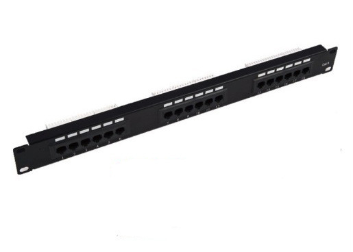18 Ports Black 1U UTP Patch Panel Cat6 110 IDC / KRONE / DUAL Types