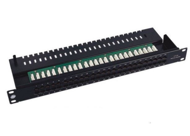 Professional 110 IDC / Krone IDC Cat3 Patch Panel , 25 / 50 Port Voice Patch Panel 6P4C