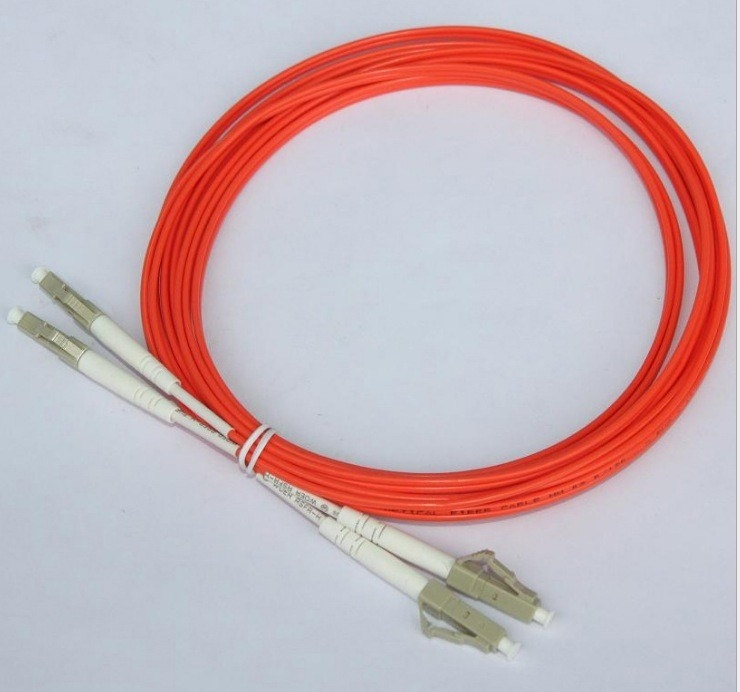 Orange 3M Optical Fiber Patch Cord LC LC Duplex Fiber Jumper Cables