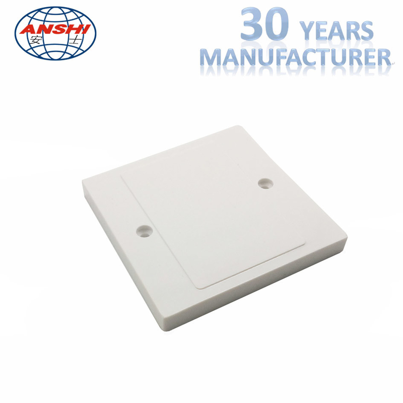 Blank Panel Socket Cover Plate ABS / PC Material For Telephone / Workstation OEM