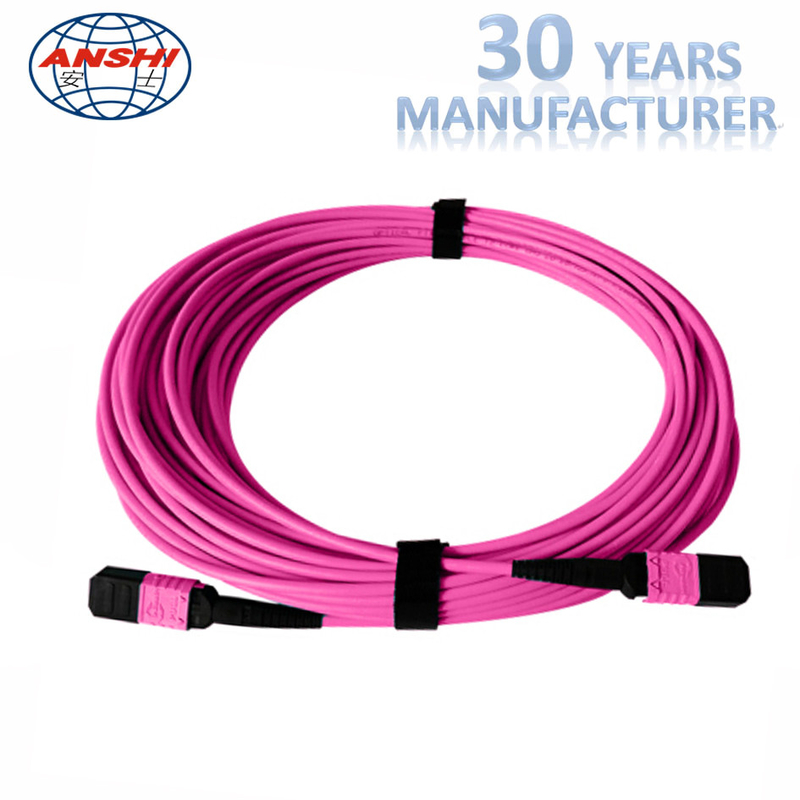 12 Core Optical Fiber Patch Cord SM / MM Fiber Type For Cable Expanding